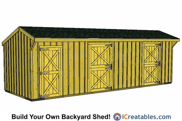 12x30 2 Stall Horse Barn With Tack Room