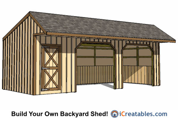 12x30 Run In Shed With Tack Room