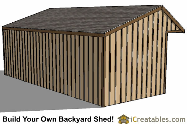 12x30 run in shed rear