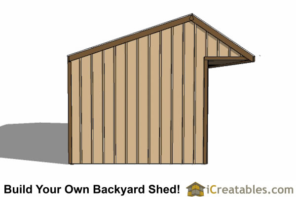 12x30 Run In Shed Plans With Tack Room And Cantilever