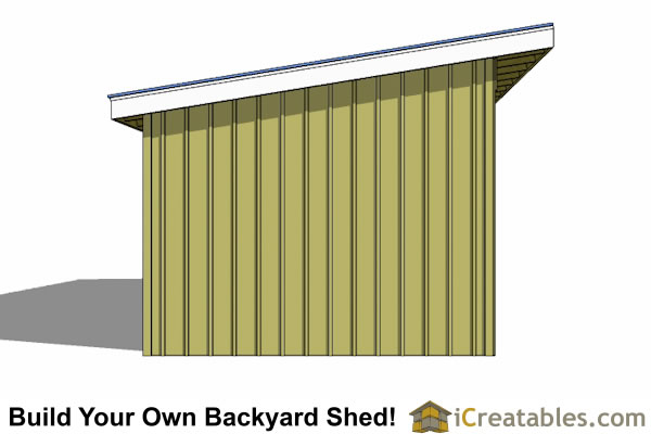12x36 run in shed end view
