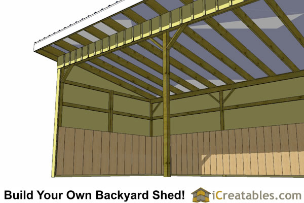 12x36 run in shed interior