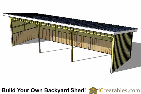 12x36 Run In Shed Plans – 16 X 32 Garage Plans