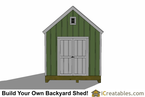 Garden Sheds 8x8 12x8-8x8 garden shed plans with trellis