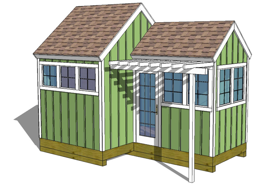 12x8 8x8 garden shed plans with trellis for Garden shed plans
