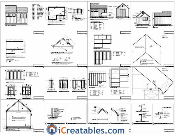 12x10-8x8 cottage shed plans example