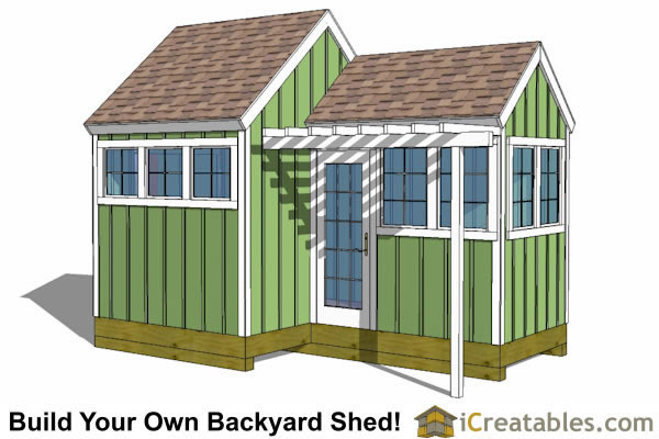 Garden Sheds 12x8 12x8-8x8 garden shed plans with trellis