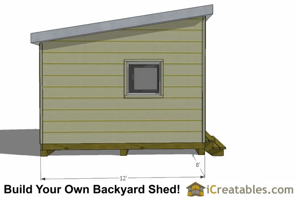 12x8 Modern Shed Plans | 12x8 studio shed plans