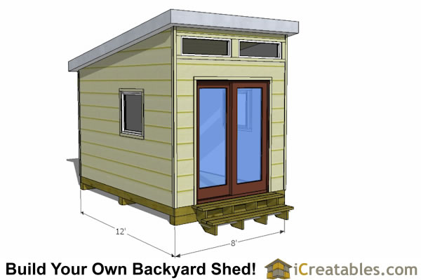 12x8 modern shed plans 12x8 studio shed plans for Design and build your own shed