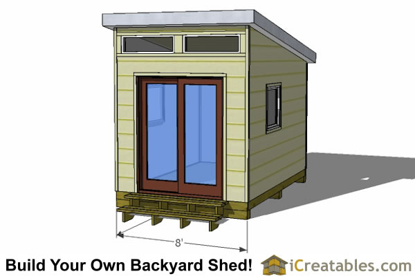 12x8 modern office shed plans