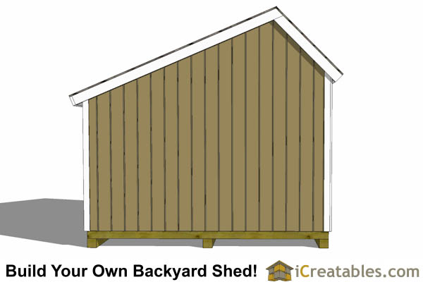 12x8 Salt Box Garage Door Shed Plans Motorcycle Garage