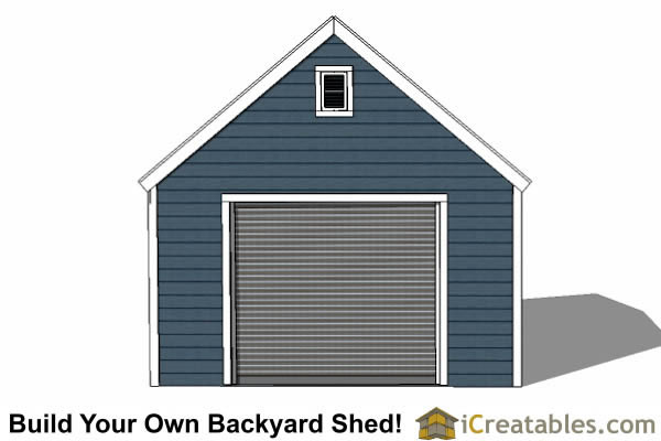 14x14 garage shed plans for Shed overhead door