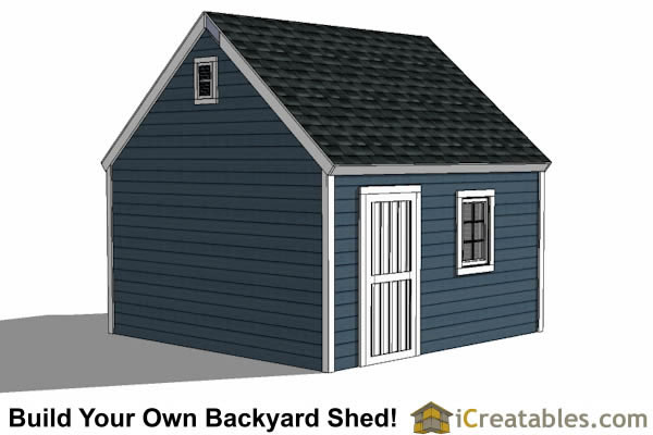 14x14 garage shed plans for Colonial garage plans