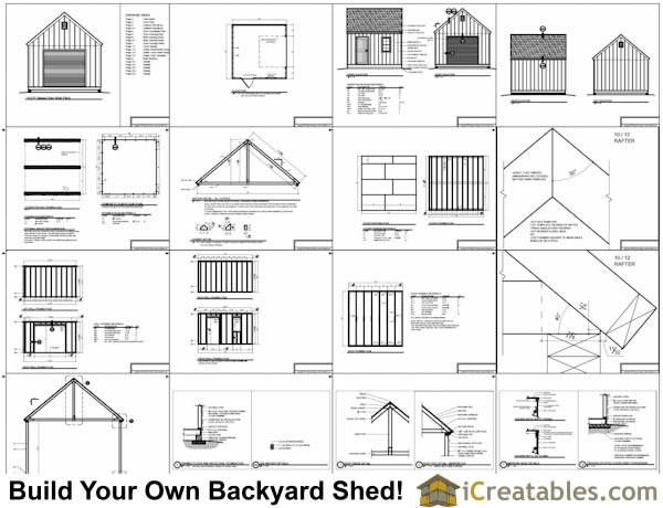 14x14 Garage Shed Plans – Garage And Storage Building Plans