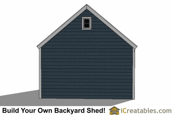 14x14 shed plans with garage door