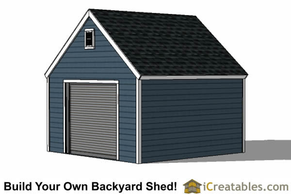 14x14 shed plans with garage door end view with 4 wheeler