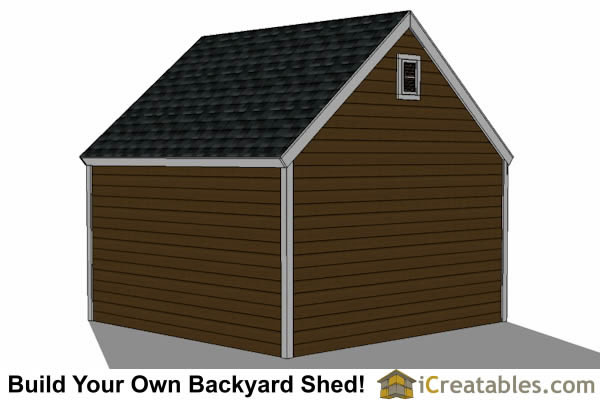 14x14 garage shed plans for New england shed plans
