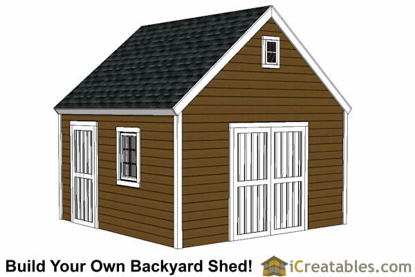 14x14 Shed Plans Build A Large Storage Shed Diy Shed