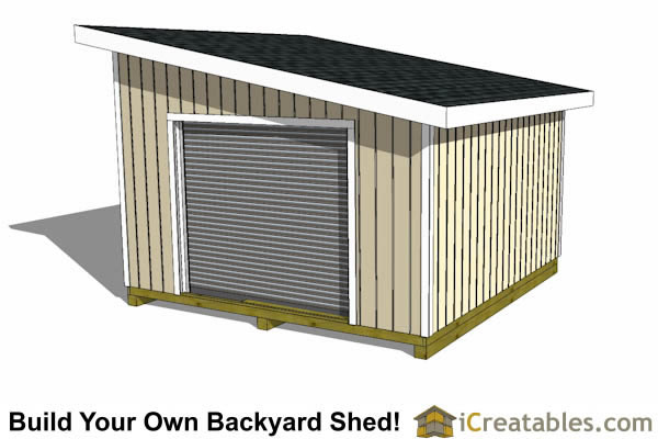 14x14 lean to shed end door option