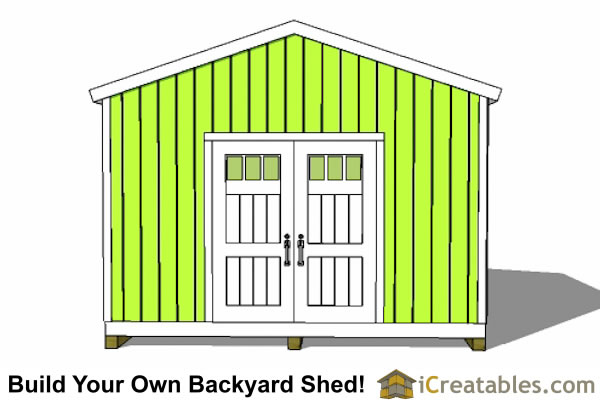 14x16 gable shed plans end view