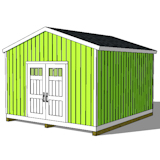 14x16 shed plans gable