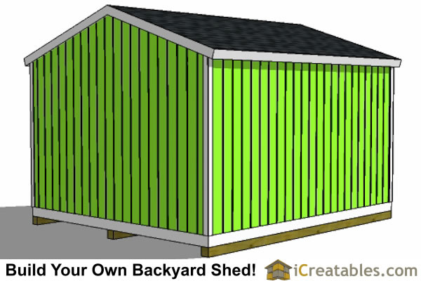 14x16 gable shed plans rear