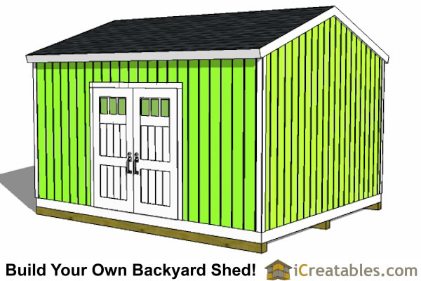 14x16 large shed plans backyard