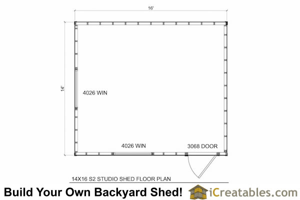 14x16 office shed plans modern shed plans floor plan