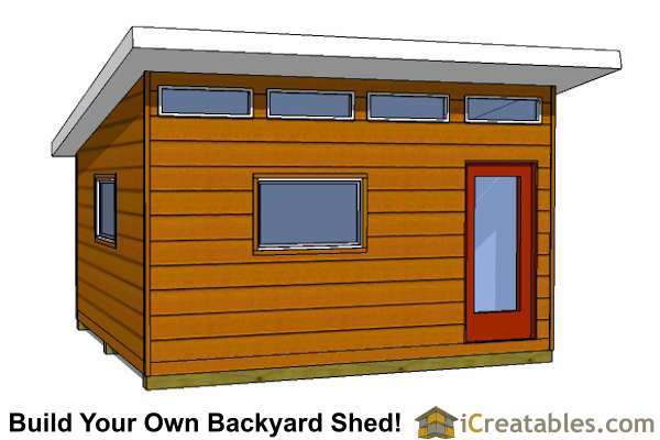 14x16 modern studio shed plans - Large Shed Plans - How To Build A Shed - Outdoor Storage Designs
