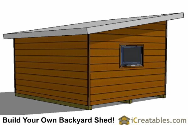 14x16 modern studio shed plans icreatables for Modern shed siding