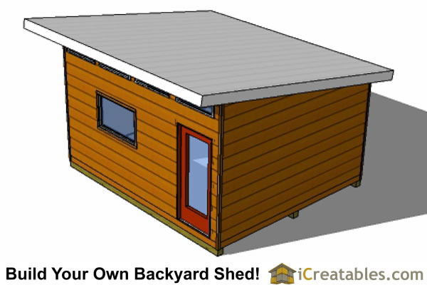 14x16 modern shed top