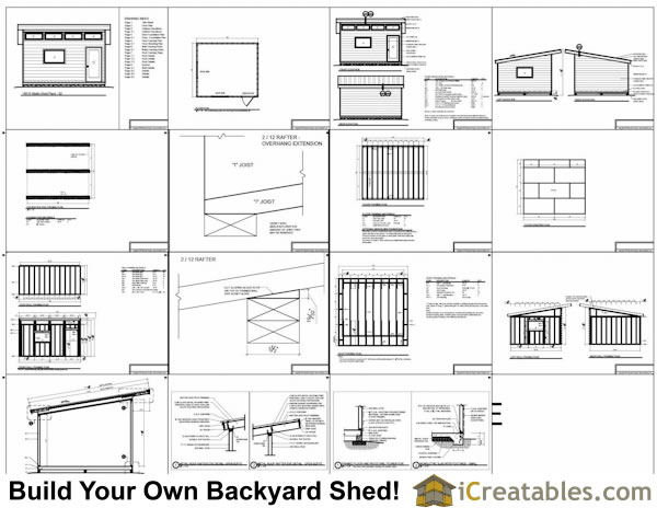 14x16 modern studio shed plans icreatables for Free shed design software with materials list