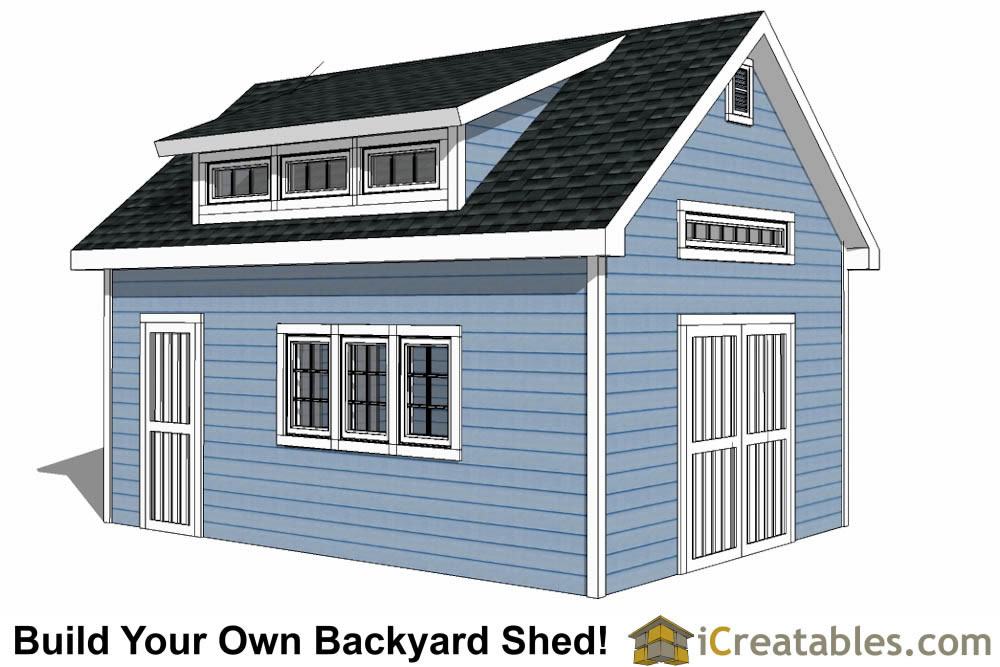14x16 shed plans build a large storage shed diy shed for Large shed plans