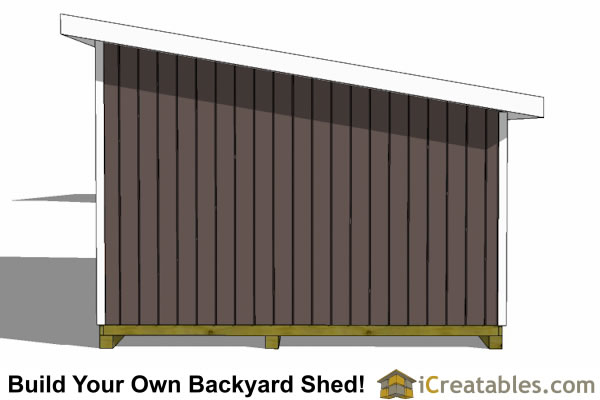 14x20 lean to shed end view