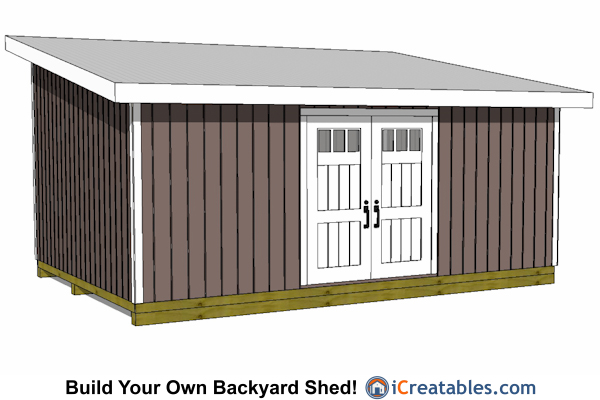 14x20 Lean To Shed Plans | Easy To Build Large Shed Plans