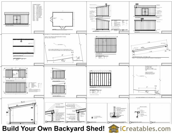 14x20 lean to shed plans example