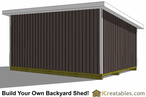 14x20 lean to shed left rear view