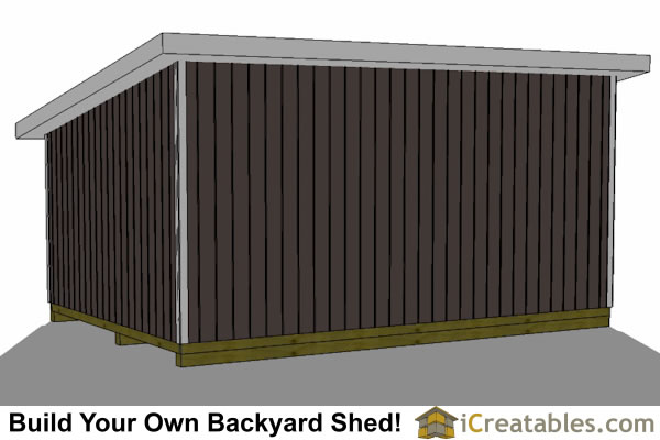 14x20 lean to shed rear view