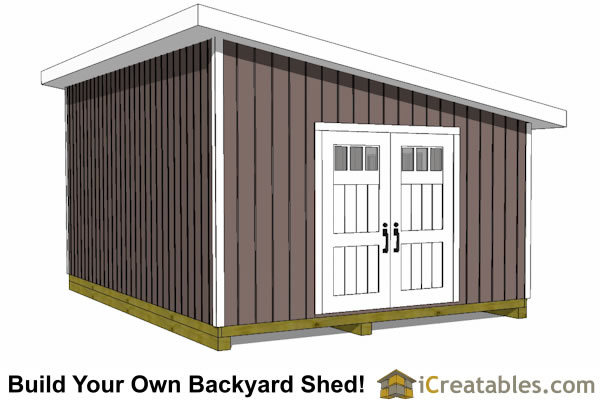14x20 lean to shed end door option