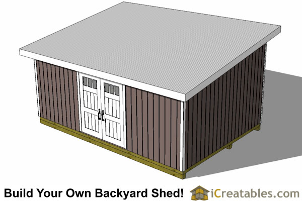 14x20 lean to shed top view