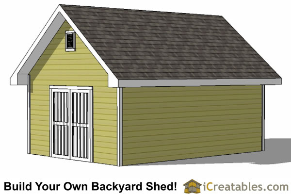 14x20 traditional shed rear view
