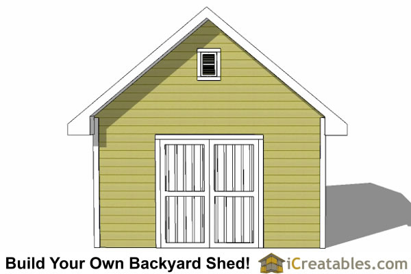 14x20 traditional shed end door option