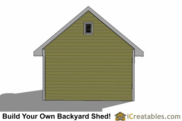 14x20 traditional shed left rear view