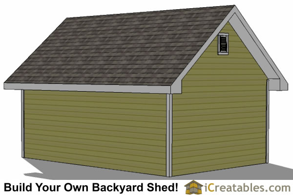 14x20 traditional shed tall wall door view