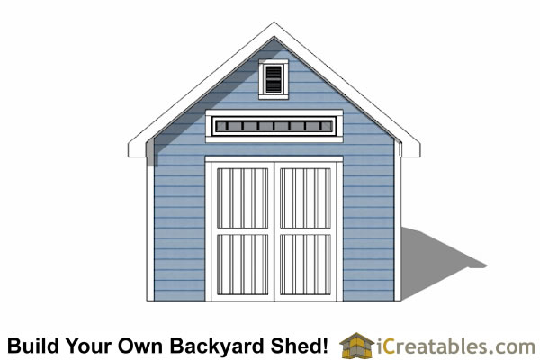 14x20 Traditional Victorian Style Storage Shed elevation