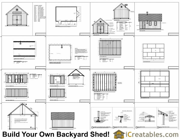 14x20 Traditional Victorian Style Storage Shed Plans
