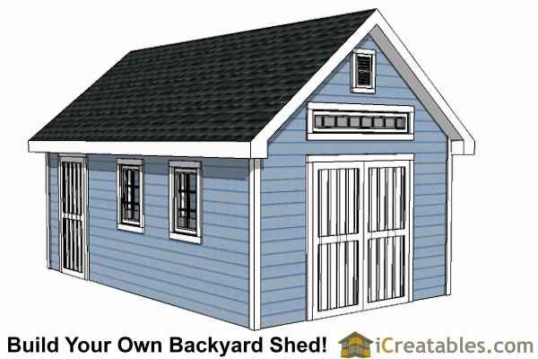 14x20 traditioal victorian shed plans