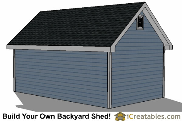 14x20 Traditional Victorian Style Storage Shed Plans right rear