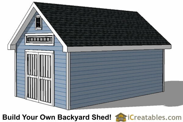 14x20 Traditional Victorian Style Storage Shed Plans right side