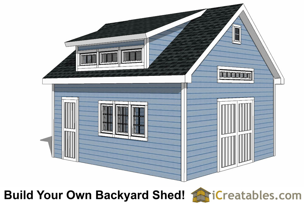 14x20 dormer shed plans  sc 1 st  iCreatables & 14x20 Shed Plans - Build a Large Storage Shed - DIY Shed Designs